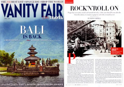 Vanity Fair on Travel - April 2010