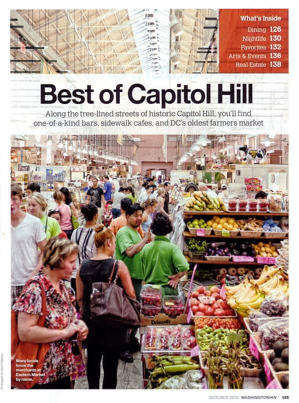 Washingtonian Magazine October 2010 Best of Capitol Hill Eastern Market