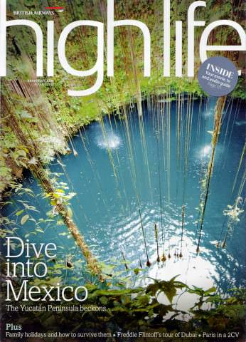 BA Highlife Magazine - Yucatan issue - August 2010 - cover