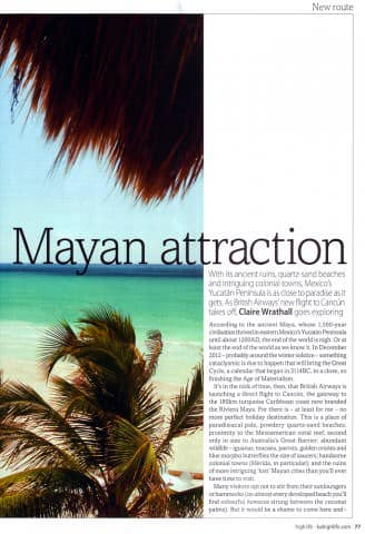 BA Highlife Magazine - Yucatan issue - August 2010