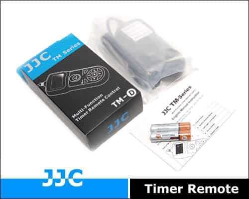 JJC TM-D Multi-Function Timer Remote Control box contents