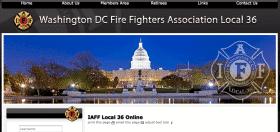 Washington DC Fire Fighters Associate Local 36 website banner
