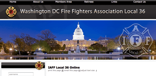 Washington DC Fire Fighters Association Local 36