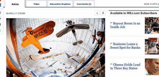 Wall Street Journal / Tear Sheet