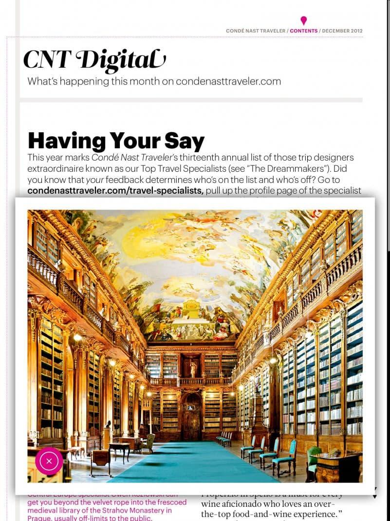 CondeNastTravel-Dec12 - Strahov Library
