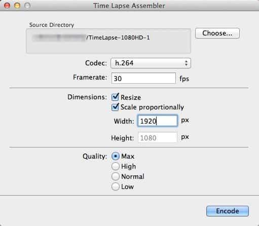 Time-Lapse-Assembler-Options