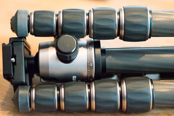 Extending the legs uses 4 rotating locks for each leg.