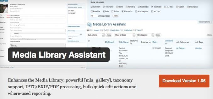 Media Library Assistant for Wordpress