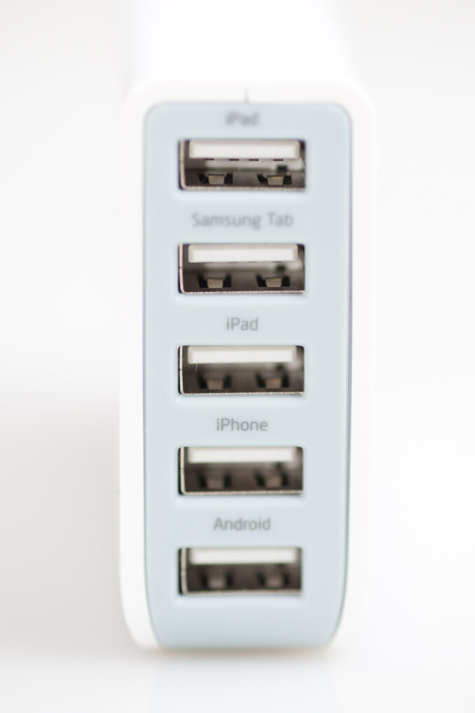 Photive 5-Port 25W USB Charger