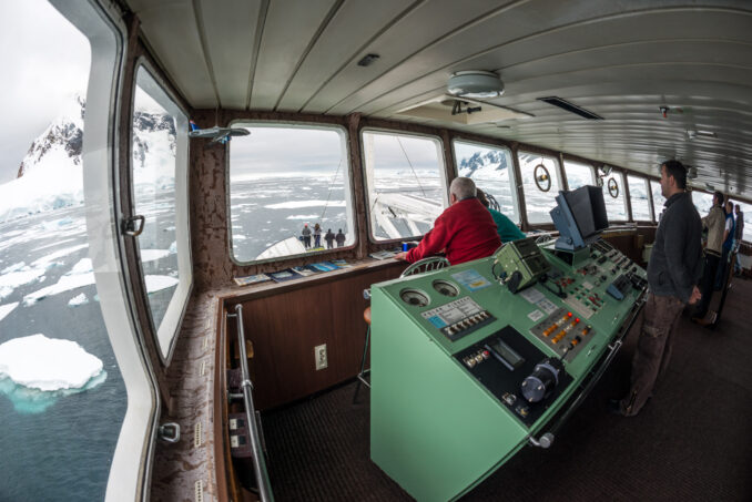 Navigating the Lemaire Channel Antarctica
