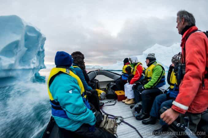 Zodiac Cruising in Antarctic