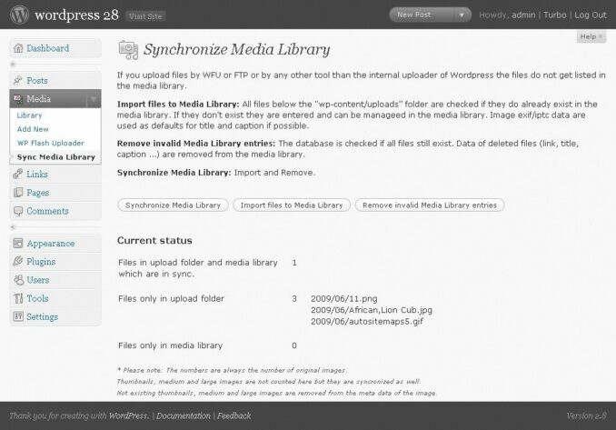 synchronize media library