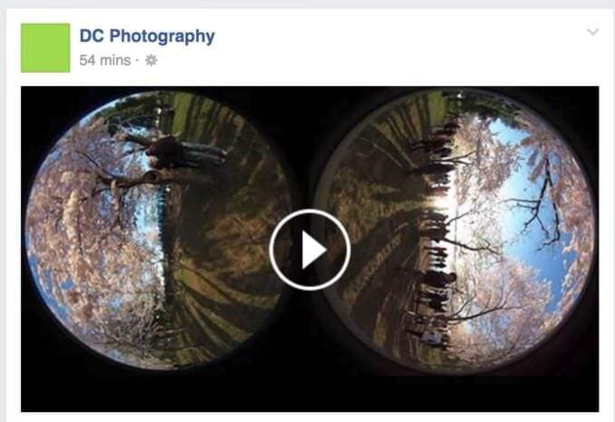 Facebook Stereoscopic Image