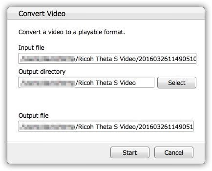 Ricoh Theta App - Convert Video File Locations and Names