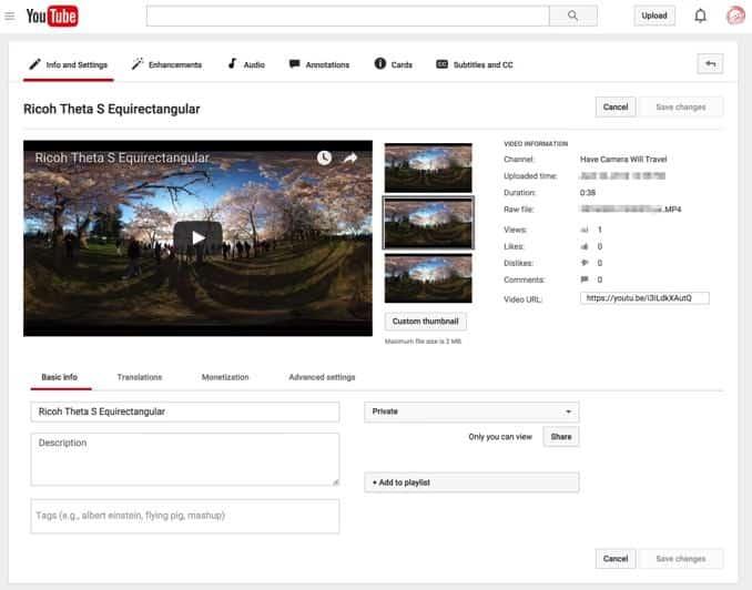 Youtube 360 Video Upload ER  2