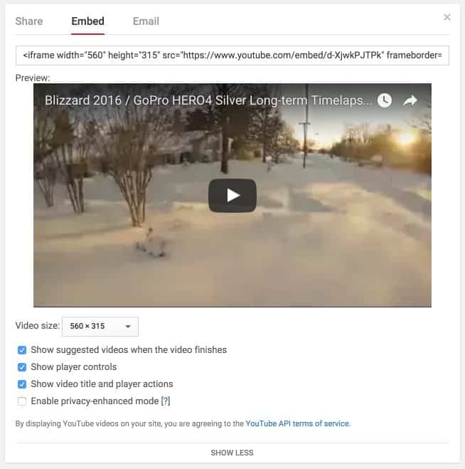 Youtube  Embed Iframe code