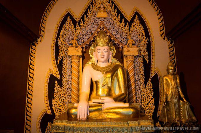 Buddha Shrine at Myazedi Pagoda, Myinkaba Village, Myanmar (Burma)
