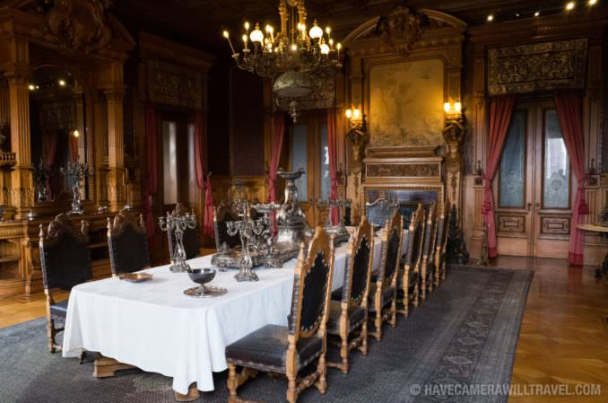 Dining Room at Residential Quarters at Chapultepec Castle in Mexico City