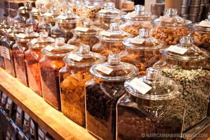 Dried fruits and nuts at Dean & Deluca in Georgetown