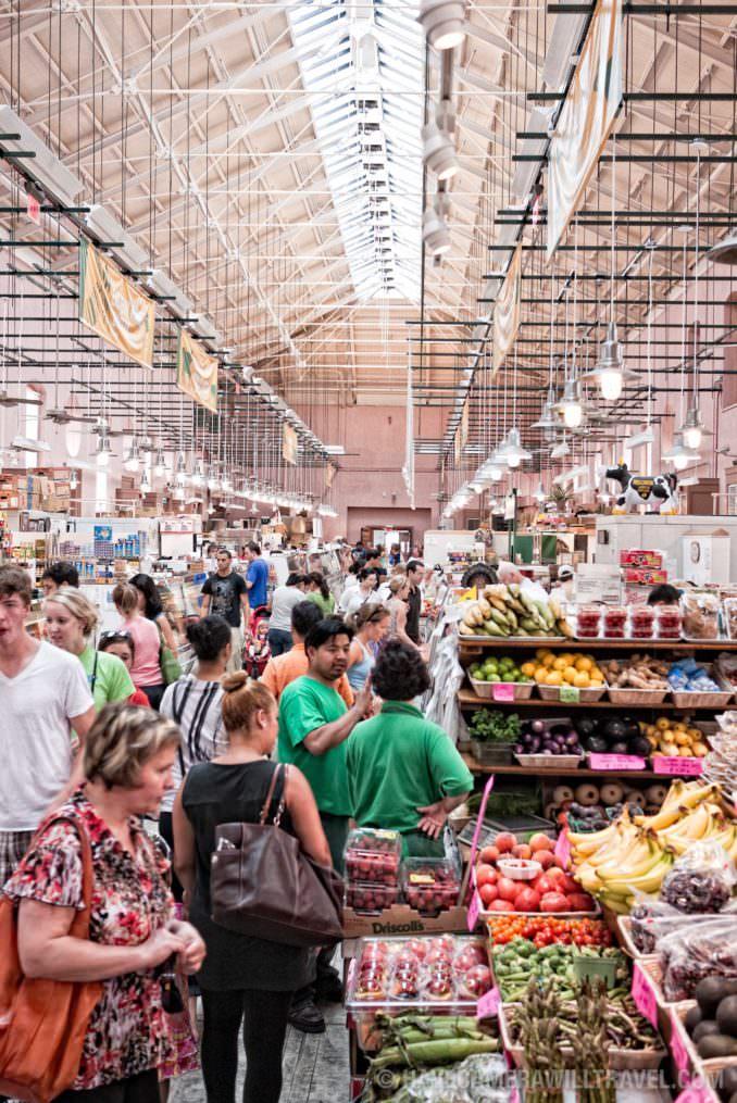 Eastern Market fruits and vegetables interior