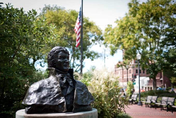Francis Scott Key Park statue