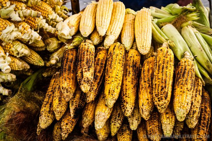 Grilled corn in Istanbul