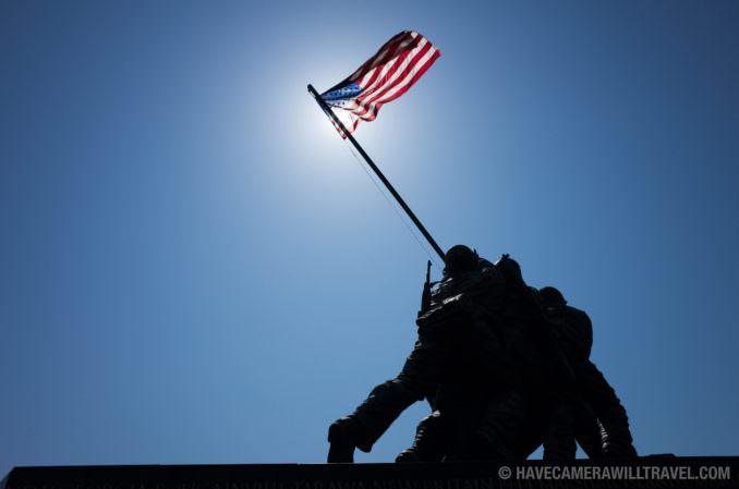 Iwo Jima Memorial Against Clear Blue Sky