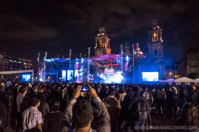 Music Concert on the Zocalo, Mexico City, Mexico