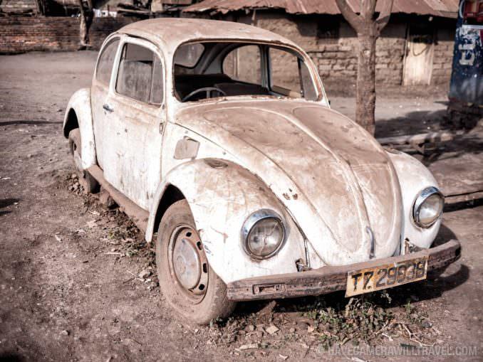 Old VW Beetle Broken Down Africa