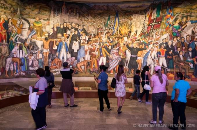 Painted Murals at Chapultepec Castle in Mexico City