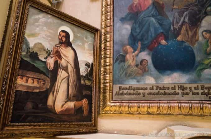 Paintings at Iglesia de Santa Ines, Mexico City, Mexico