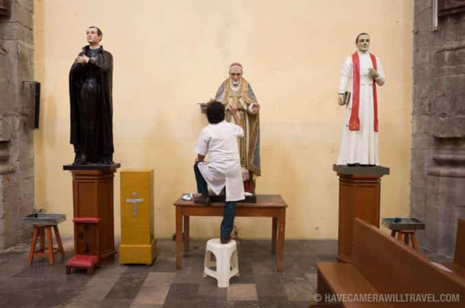 Statue Preservation at Iglesia de la Santisima Trinidad in Mexico City, Mexico