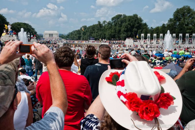 Tea Party Rally view from National World War II Memorial