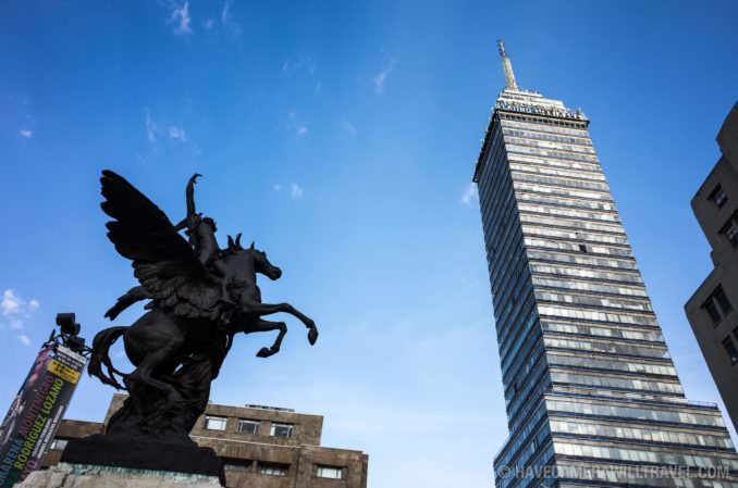 Torre Latinoamericana from Street Level