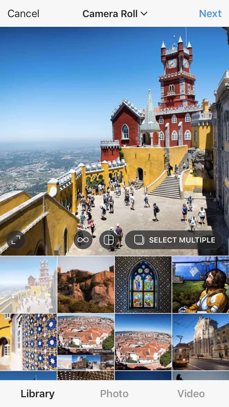 Instagram sharing multiple images in a single post