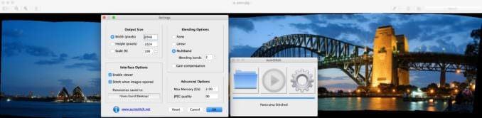 AutoStitch panorama stitching software