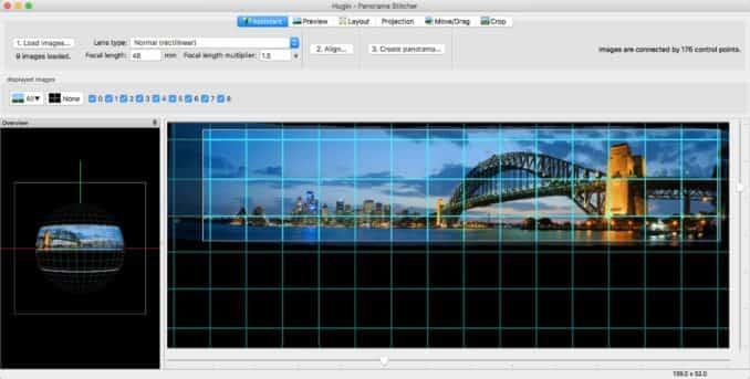 Hugin Panorama Stitching software