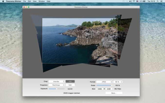 Panorama Stitcher Mini panorama stitching software