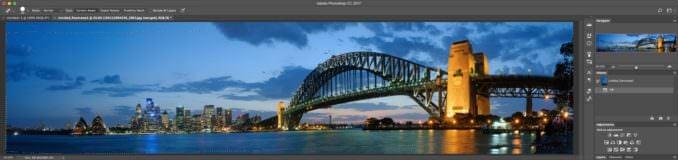 Adobe Photoshop Photo Merge for Panorama Stitching