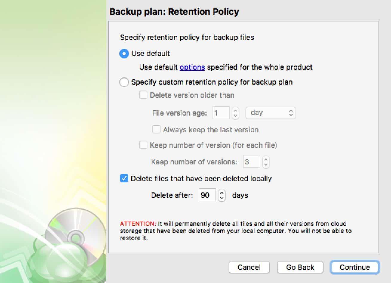 CloudBerry Backup 5