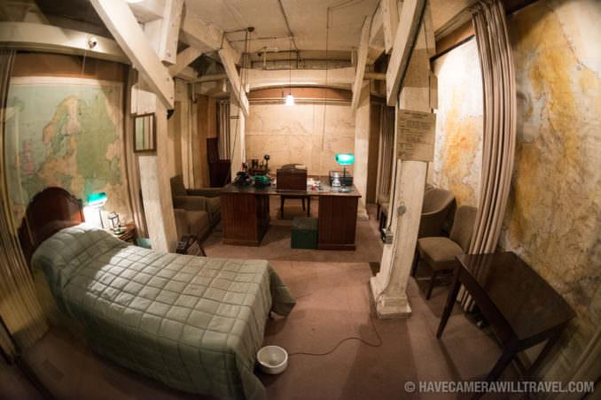 Churchill War Rooms London Churchill's Bedroom