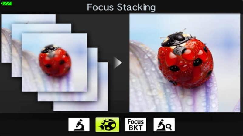 Olympus TG-5 Menu Macro Modes Focus Stacking