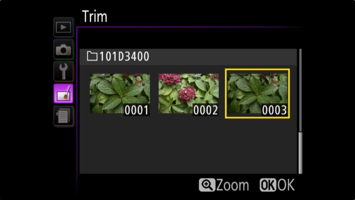 Nikon D3400 Aspect Ratio Trim 1