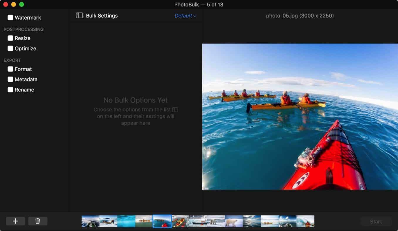 PhotoBulk User Interface
