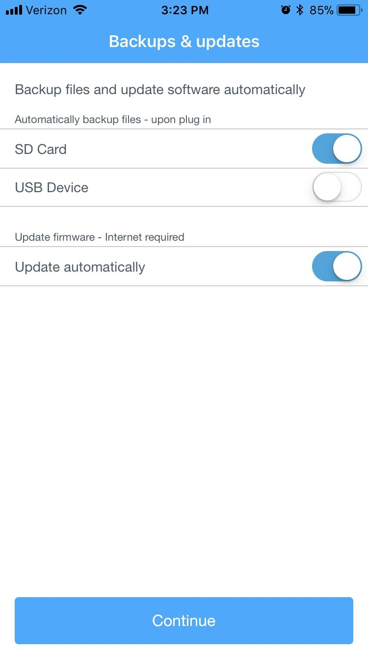 WD My Passport Wireless Pro App 1