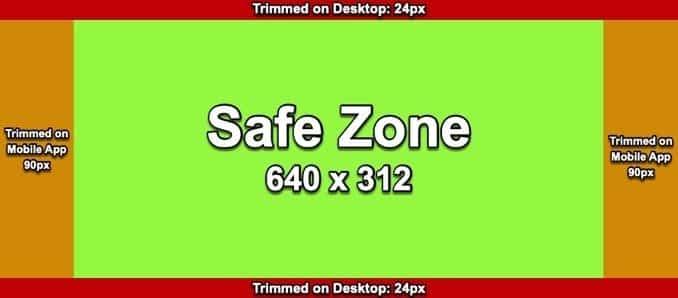 Facebook cover photo safe zone