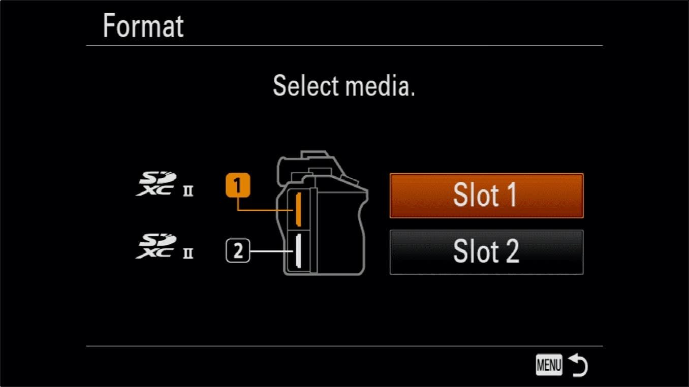 Sony a7R IV How to Format SD Cards 2