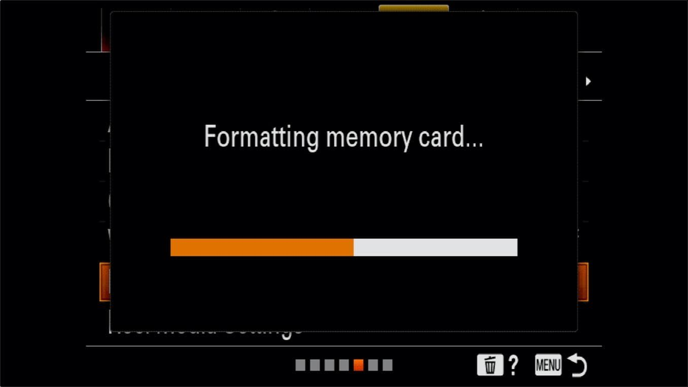 Sony a7R IV How to Format SD Cards 4