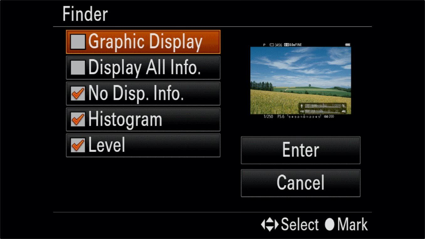 Sony a7R IV On Screen Information Display 3