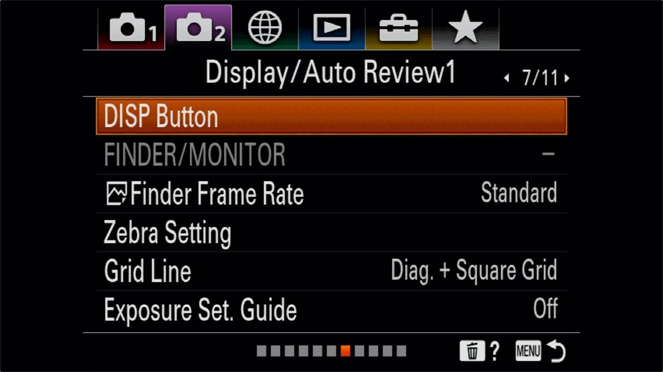 Sony a7R IV On Screen Information Display 5